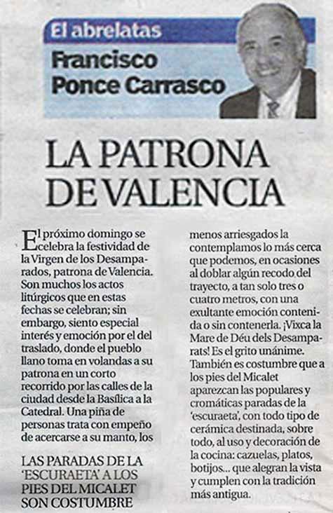 La Patrona de Valencia
