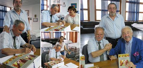 Antonio Prima Manzano (autor) firmando.