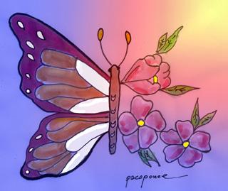 mariposa-y-flores