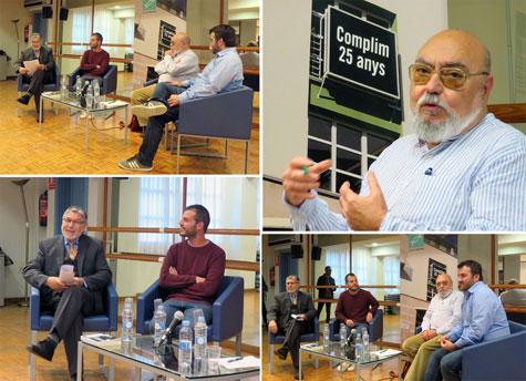 Autor y presentadores en la mesa
