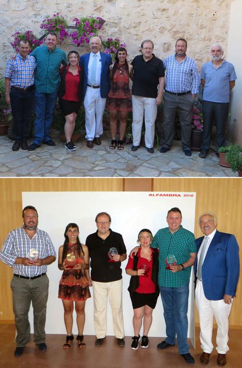 Premiados y Organizadores