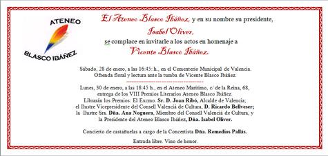 Evento ateneo Blasco Ibáñez