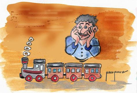 Reyes Magos con tren