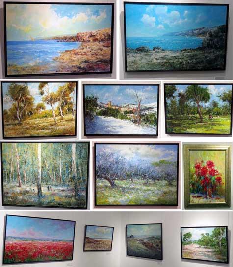 Varios cuadros de Carlos Giner