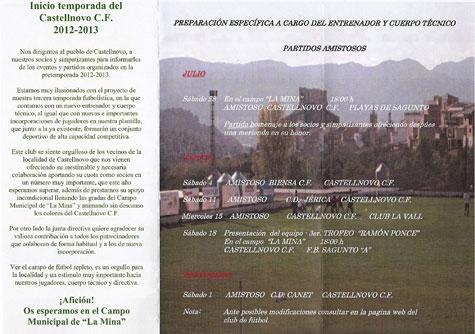Programa de encuentros amistosos Castellnovo C.F. (2012-2013)