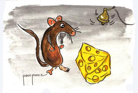 Raton Pérez-oso, dibujo acuarela de Paco Ponce