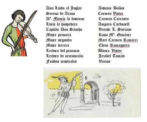 """Reparto en """"Don Lindo el Juglar"""""""