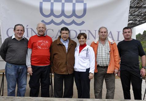 Algunos de los organizadores y la Alcandesa