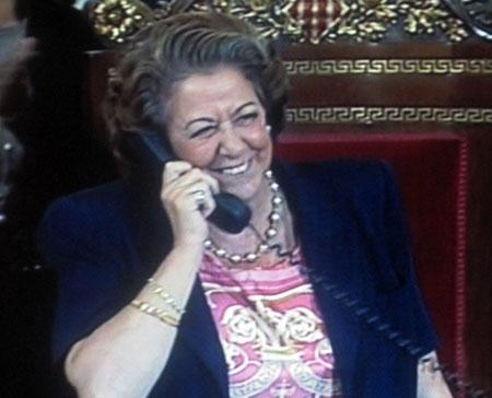Rita Barberá, anunciando el nombramiento