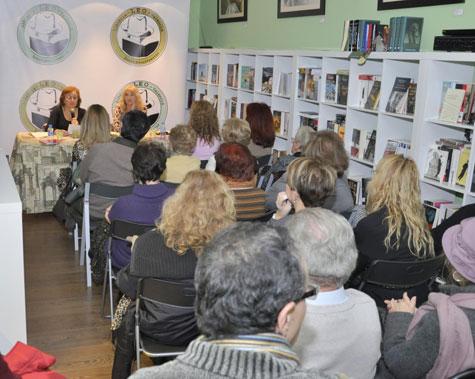 Sala de presentaciones en librería Leo