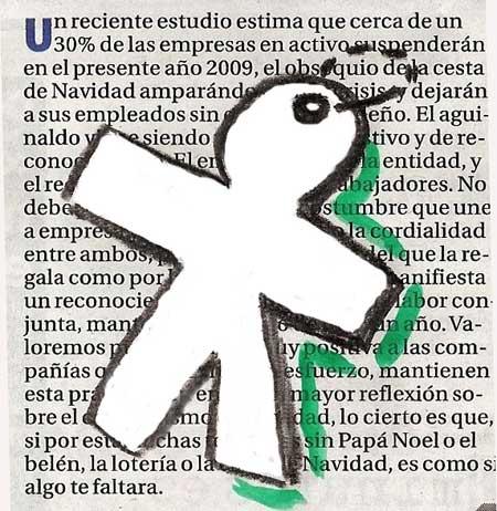 Muñeco símbolo de las inocentadas