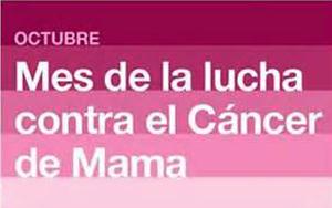 Octubre, mes de la lucha contra el cáncer de mama