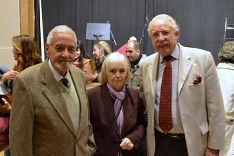 (Ubaldo G. Visier y su esposa con Francisco Ponce)