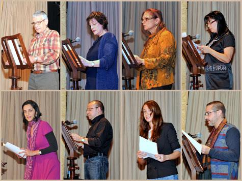 Los poetas que intervinieron