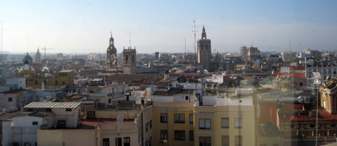 Vista panorámica de Valencia