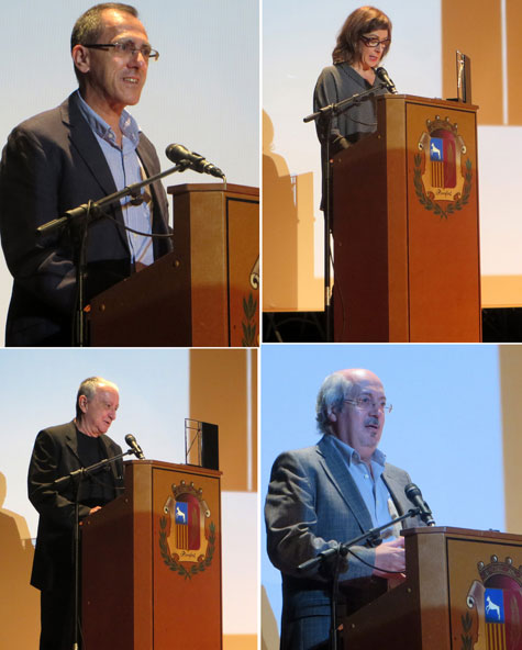 (Rafael Chirbes, Xelo Candel, J.A. Ríos, A.L. Prieto de Paula)
