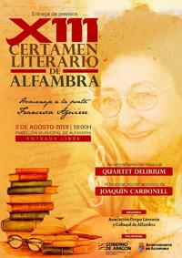 XIII Certamen Literario de Alfambra 2019