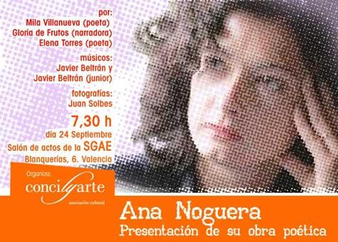 Ana Noguera - Poeta -