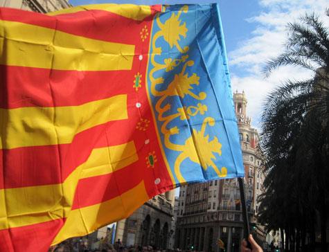 Banderas Valencianas en el recorrido