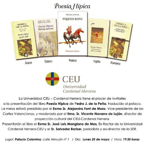 Poesía Hípica de Pedro J. de la Peña