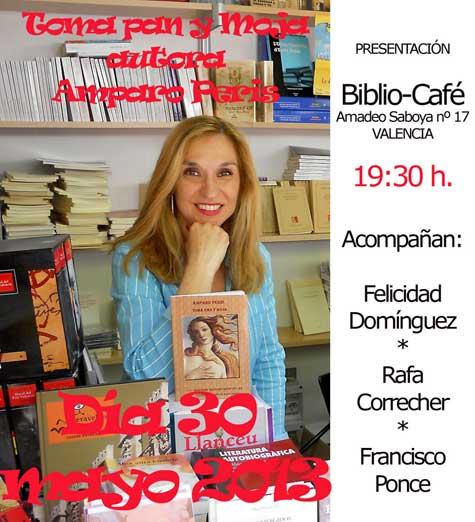 """Toma pan y moja"" novela de Amparo Peris"