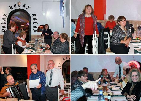 Momentos cena con Juana Pinés