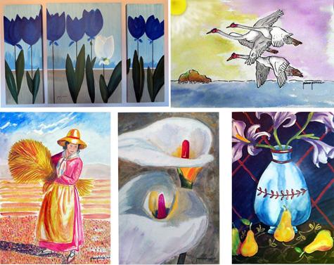 Varios cuadros de Francisco Ponce