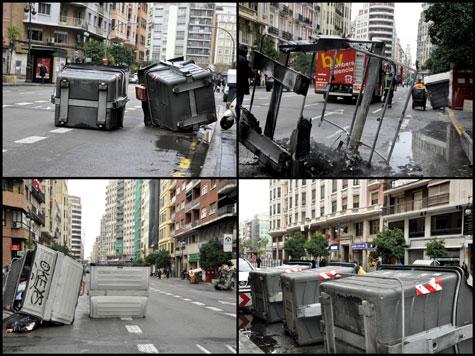 Destrozos en Valencia