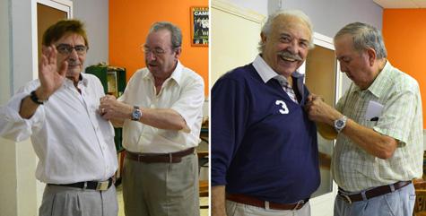 - José Luis Vila (impone Vicente Oquendo) y Francisco Ponce (impone Miguel Sanchis) -