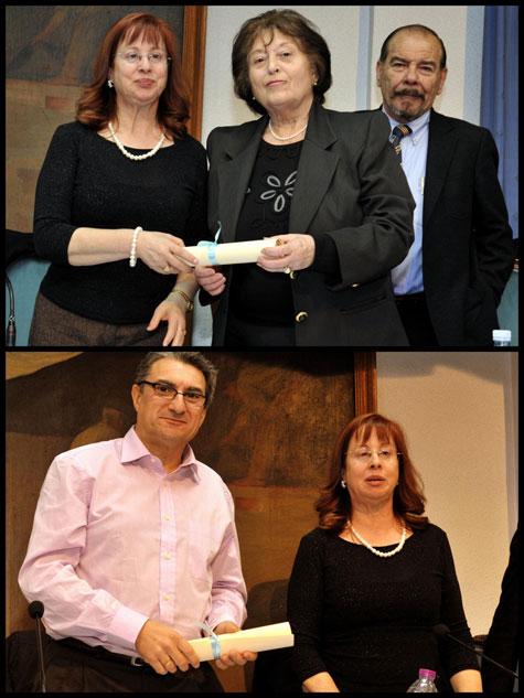 Presidentes de los jurados (Mª Teresa Espasa y Juan Luis Bedins)
