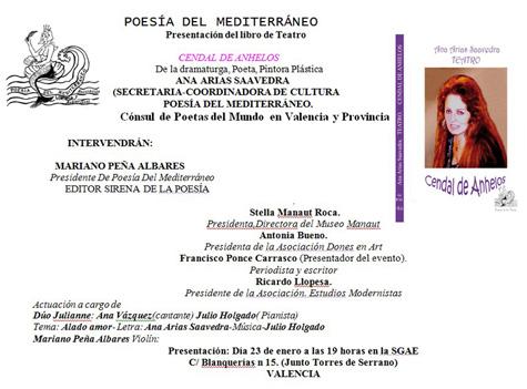 Invitación de Ana Arias Saavedra