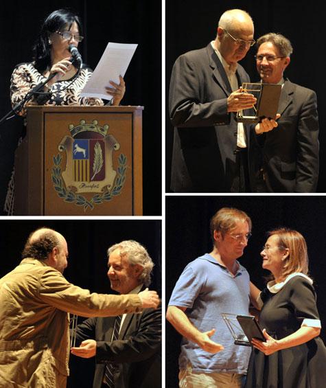 Mila Villanueva nombra y hacen entrega del trofeo a los premiados