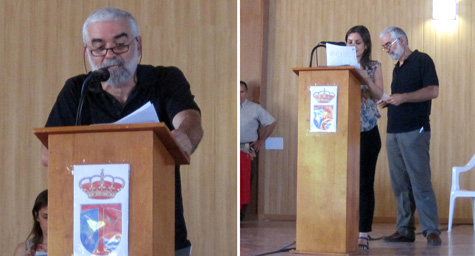 Presentaron el evento (Miguel Morata e Inés Novella)