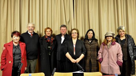 Salvador Amigó Borras, con los organizadores y amigos