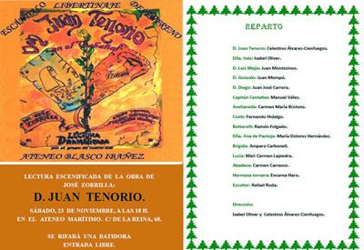 Don Juan Tenorio en el Ateneo Blasco Ibáñez