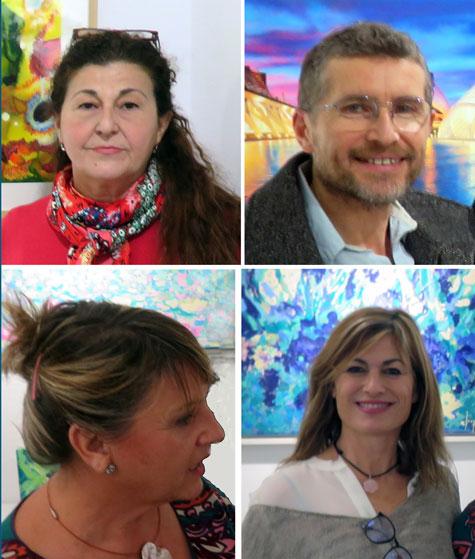 cuatro-artistas de las artes plasticas